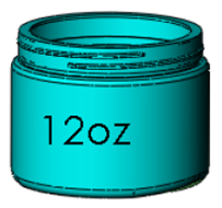 12oz. Wide Mouth Jar, 89-400 Image