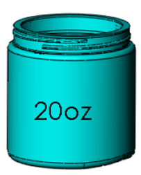 20oz. Wide Mouth Jar, 89-400 Image