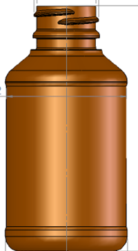 4oz. Modern Round Bottle, 28-400 Image